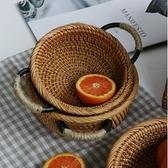 木善 藤編筐 水果盤 點心筐 客廳零食筐 創意籃