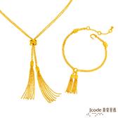 J'code真愛密碼 流金夢想黃金項鍊+手鍊