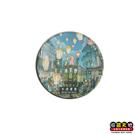 【收藏天地】台灣紀念品*水晶玻璃球冰箱貼-十分老街