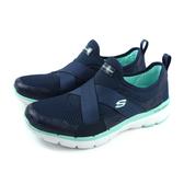 SKECHERS FlexAppeal 3.0 運動鞋 懶人鞋 女鞋 深藍色 寬楦 13079WNVAQ no068
