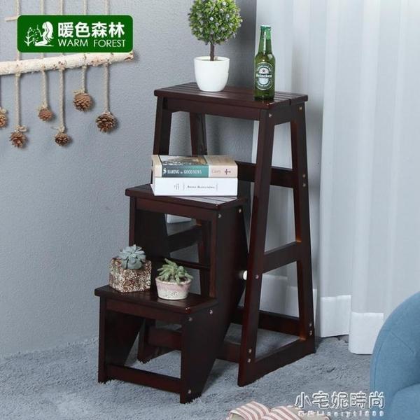 梯凳 梯凳多功能家用梯子室內加厚折疊兩用三步小台階樓梯椅登高凳 【全館免運】