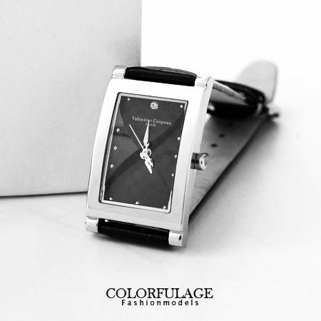 Valentino范倫鐵諾 切割美學經典格紋皮革手錶腕錶對錶 柒彩年代【NE1056】單支價格