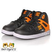 美國DC REBOUND UL 橘/黑色 高筒鬆緊帶滑板鞋 小童鞋 NO.R2018