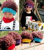 毛帽嬰兒帽2018嬰兒帽秋冬6-12個月男童毛線兒童假發帽子女寶寶春秋潮帽薄款