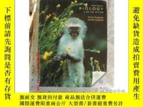 二手書博民逛書店英文原版罕見BIOLOGY Life on Earth (Fif