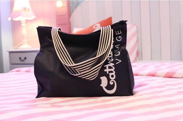 防水短途旅行包男女旅行袋單肩包旅游包可折疊行李包大容量購物袋