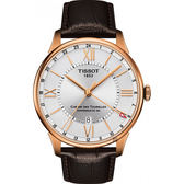 TISSOT 天梭 杜魯爾系列 80小時動力儲存 GMT 機械錶-42mm T0994293603800
