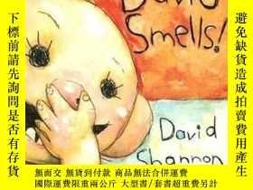 二手書博民逛書店David罕見Smells!: A Diaper David Book [Board Book][大衛寶寶的故事: