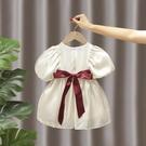 女童洋裝 女童夏裝連衣裙兒童2021新款暮云紗泡泡袖裙子寶寶洋氣公主禮服裙 歐歐