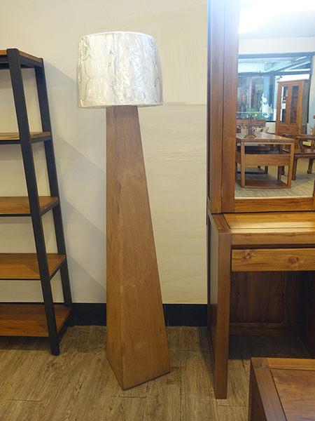 柚木錐型立燈.24.5*24.5*145 cm