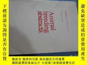 二手書博民逛書店Animal罕見breeding abstracts 1985.