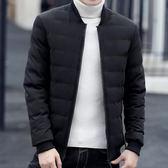 男士韓版潮流加絨外套 洋氣個性潮流型男外套 新款男款百搭羽絨棉服 男款冬天加厚保暖外衣