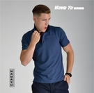 POLO衫-涼感衣-暗墨藍-男版 (尺碼S-3XL) (現貨-預購) [Wawa Yu品牌服飾]
