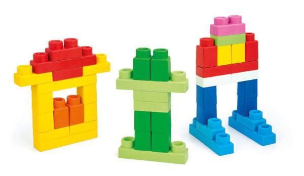 *粉粉寶貝玩具*《Clemmy軟質積木》新30PCS幼兒軟質袋裝積木