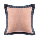 HOLA 素色雅織雙色抱枕50x50cm 靛藍粉
