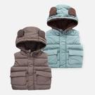 連帽背心 鋪棉 背心外套 夾克 中性款 男童 女童