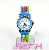 兒童手錶小朋友手錶兒童指針式男孩男童3-8歲卡通可愛幼兒小汽車學生防水 JUST M
