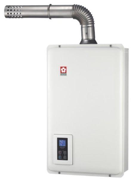 宗霖 SH-1670F 櫻花熱水器16L 強制排氣 屋內型熱水器 節能熱水器 數位恆溫熱水器 送安裝