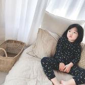 2018冬季新款女童印花櫻桃套裝全棉家居服兩件套睡衣禮物限時八九折