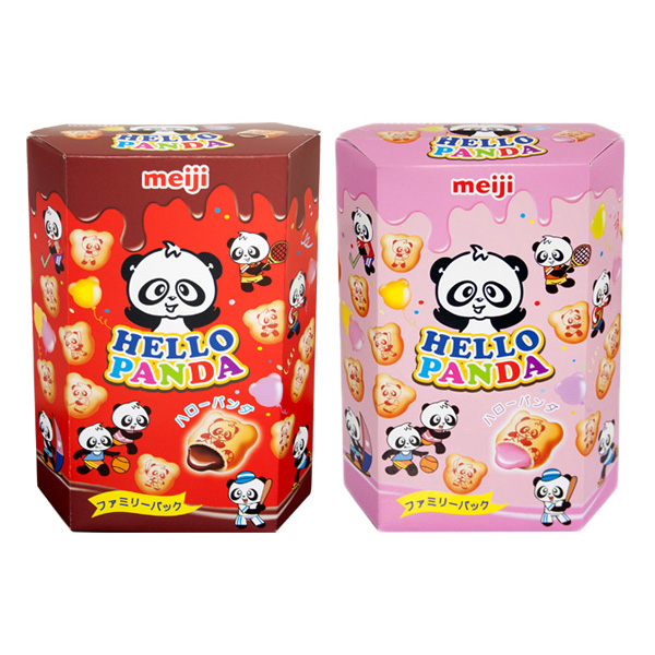 meiji 明治 貓熊夾心餅乾(175g) 巧克力/草莓 兩款可選【小三美日】