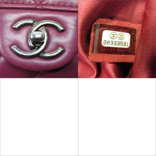 CHANEL香奈兒 莓紅色牛皮復古銀鍊肩背手提兩用包 COCO 30CM 2wayBag 【BRAND OFF】