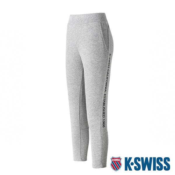【超取】K-SWISS Ks Waist Band Capri Pants棉質九分褲-女-灰