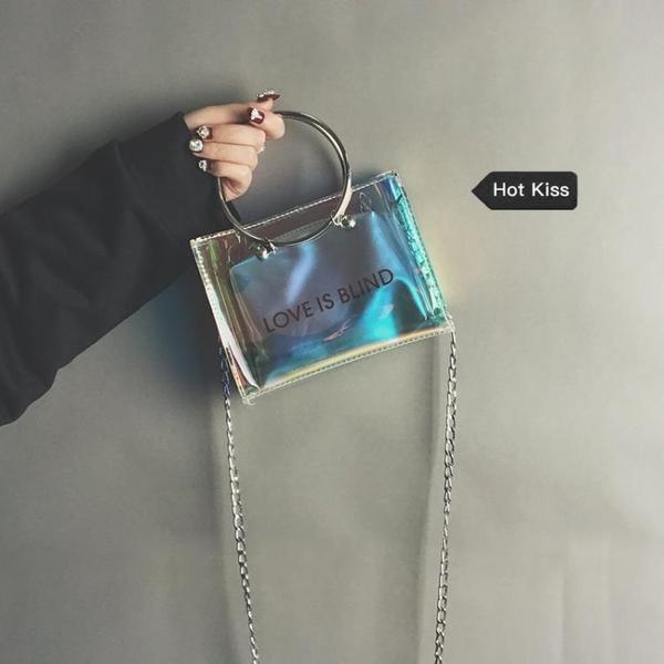 ins超火透明迷你小包包女夏天新款果凍鍊條包正韓百搭斜挎包