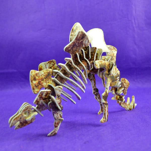 佳廷模型 親子DIY紙模型3D立體拼圖贈品獎勵品專賣店 昆蟲館動物園 侏羅紀恐龍劍龍化石 卡樂保