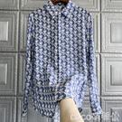 熱賣印花襯衫 意國單太好穿了怎么搭都顯嫩印花真絲女襯衫 coco