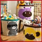 (特價出清) 多功能動物卡通大容量折疊收納桶 兒童玩具衣物置物袋【AP07015】99愛買小舖