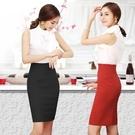 半身裙    高腰包臀裙彈力西裙短裙子一步裙職業包裙工裝裙