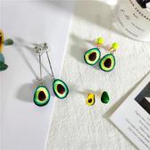 耳環 簡約 不對稱 水果 長款 吊墜 設計 個性 耳釘 耳環【DD1907102】 BOBI  09/19