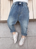 牛仔褲方糖家童裝男童牛仔褲潮兒童春裝褲子寬松小童寶寶洋氣春秋休閒褲 新品