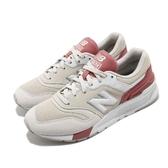New Balance 休閒鞋 997 NB 米白 粉紅 女鞋 復古慢跑鞋 運動鞋【PUMP306】 CW997HBQB