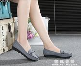 春季老北京布鞋女鞋平跟平底單鞋休閒工作鞋孕婦媽媽鞋豆豆鞋子女  韓風物語