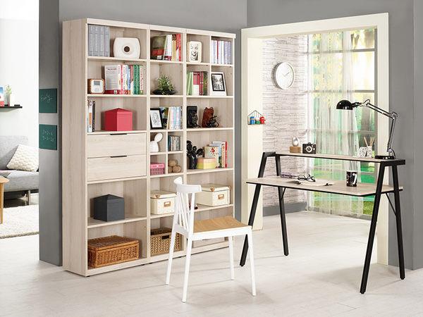 【森可家居】塔利斯1.3尺開放式書櫥 8CM879-3 窄細長型 書櫃 木紋質感 日系無印 北歐風