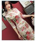 旗袍連衣裙女年輕款少女中國風時尚修身中長款春 炫科技