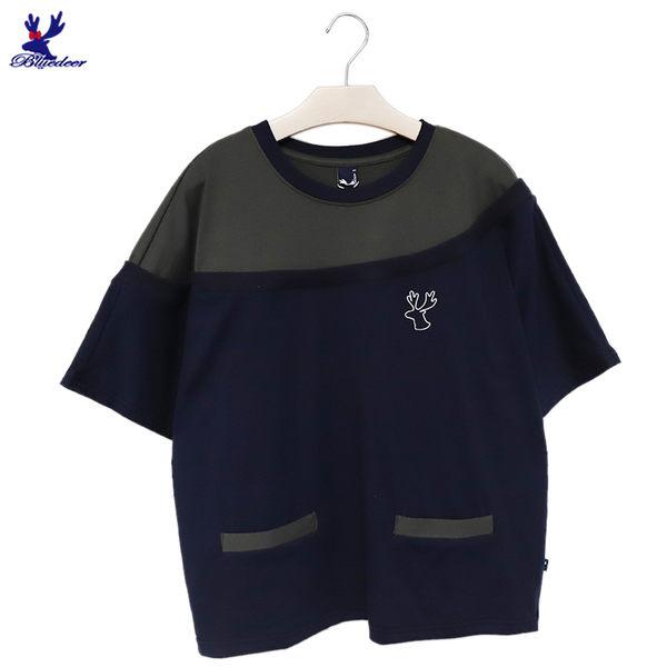 【下殺↘5折】American Bluedeer - 羅紋剪接上衣 春夏新款