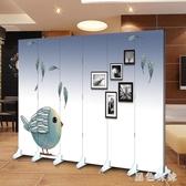 折疊屏風隔斷玄關客廳臥室3D時尚簡約背景墻 PA3388『黑色妹妹』