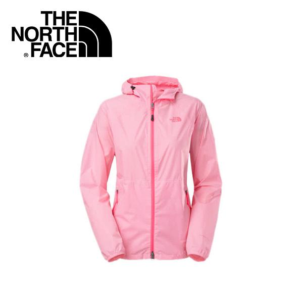【The North Face 女 HV防水外套《 粉白》】A4R0-FN4/防潑水/透氣/耐磨/連帽外套