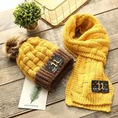 聖誕節狂歡 冬天寶寶帽子圍巾套裝男女兒童毛線帽保暖加絨奶嘴小孩冬季針織帽