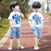 男童夏2018新款小童寶寶兩件套潮兒童裝 SG3937【潘小丫女鞋】