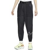 Nike AS W NSW Swoosh Pant WVN 女 黑 工裝 腰帶 縮口 運動 長褲 DJ8997-010