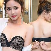 (免運)DE shop - 蕾絲防滑膠條無鋼圈平口內衣 - YH-8796-32-36