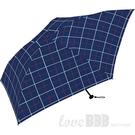 日本KIU Air-Light Large 48077 窗格紋 空氣感 130g 摺疊/抗UV晴雨傘