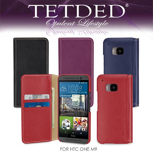 TETDED 法國精品 HTC ONE M9s / M9 Mellac II 側翻可插卡皮套 側翻手機套