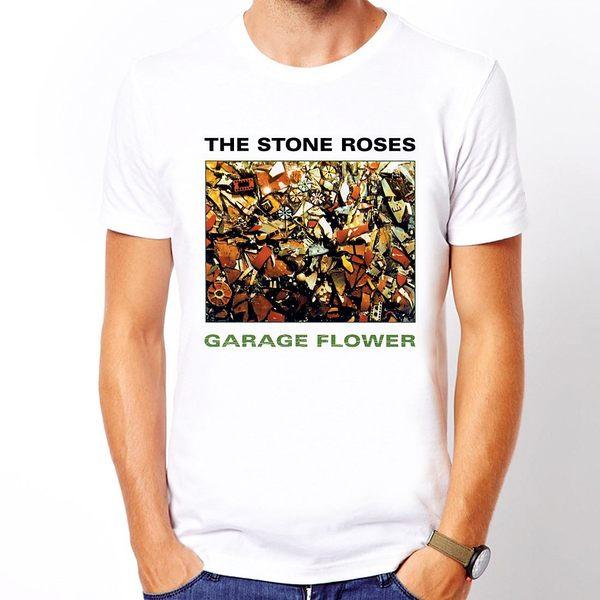 The Stone Roses短袖T恤-白色 樂團音樂滑板街頭刺青玩翻趣味幽默設計插畫潮流相片照片rock