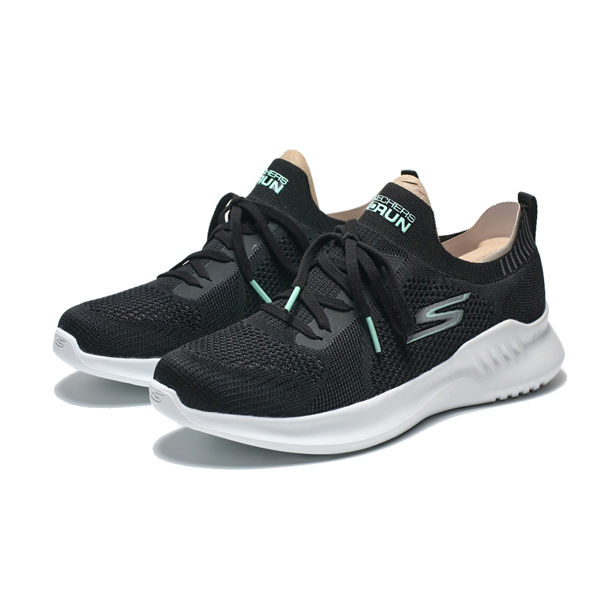 SKECHERS GO RUN MOJO 2.0 黑白 編織 慢跑鞋 女(布魯克林) 16049BKMN