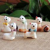 日式可愛陶瓷招財貓筷架 筆架 貓咪擺件 貓咪控必買