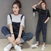 吊帶褲套裝 女夏季2018韓版學生寬鬆小清新兩件式 GY836『時尚玩家』